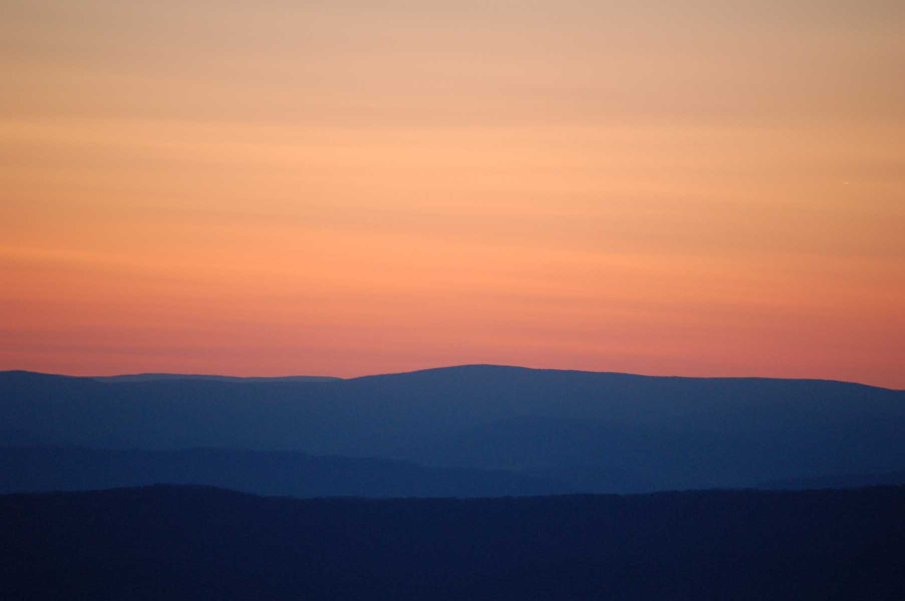 Skyline Drive, Sunset